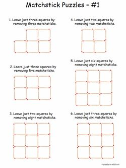 Easy Matchstick Puzzles #1