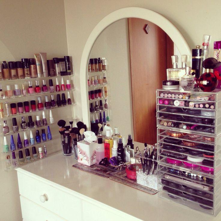 291 best images about makeup storage on pinterest for Bedroom organisation