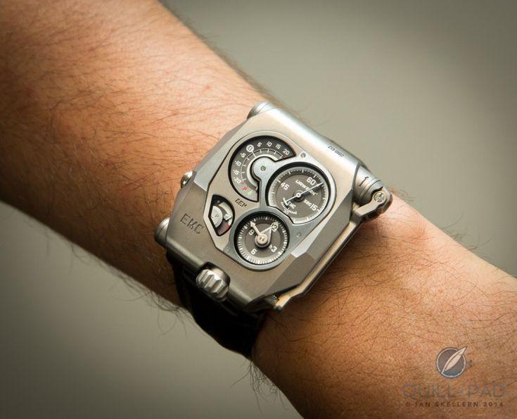 Urwerk EMC on the wrist of Felix Baumgartner