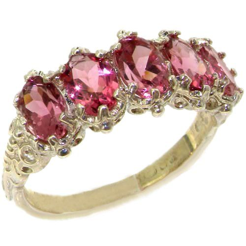 925 Sterling Silver Natural Pink Tourmaline Womens Eternity Ring  Sizes 4 to 12 Available ** Check out this .
