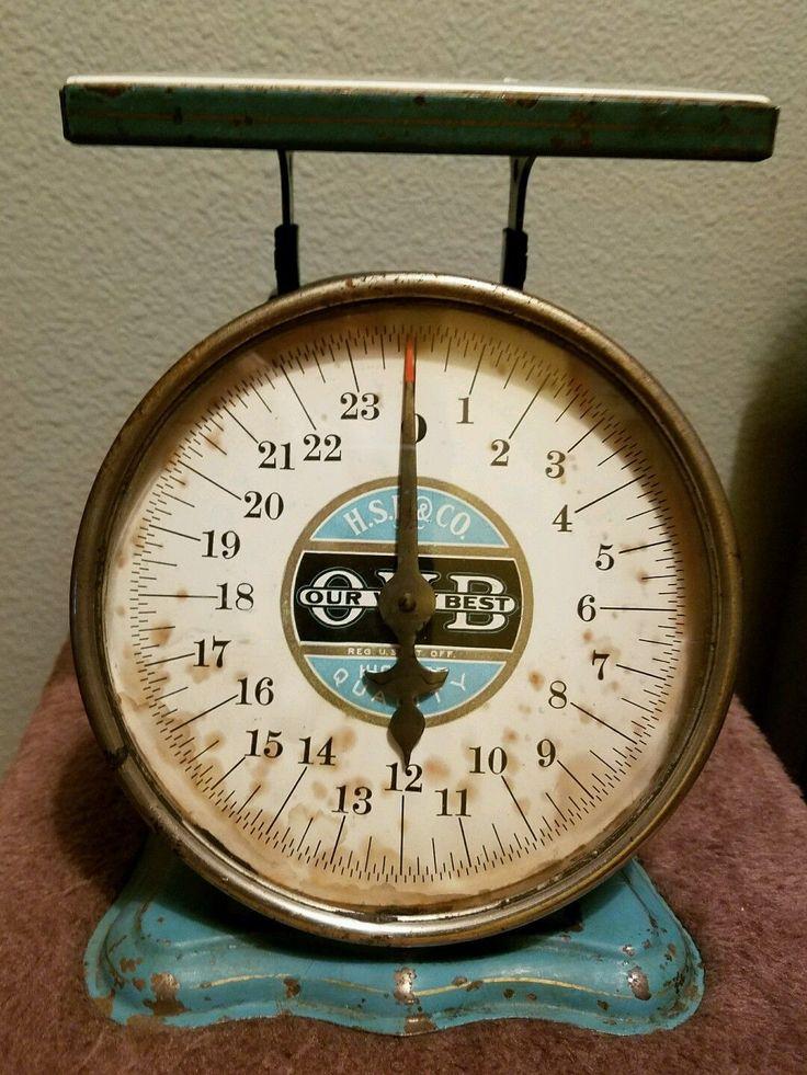 Antique 1906 Kitchen Scale. H.S.B & CO. | eBay