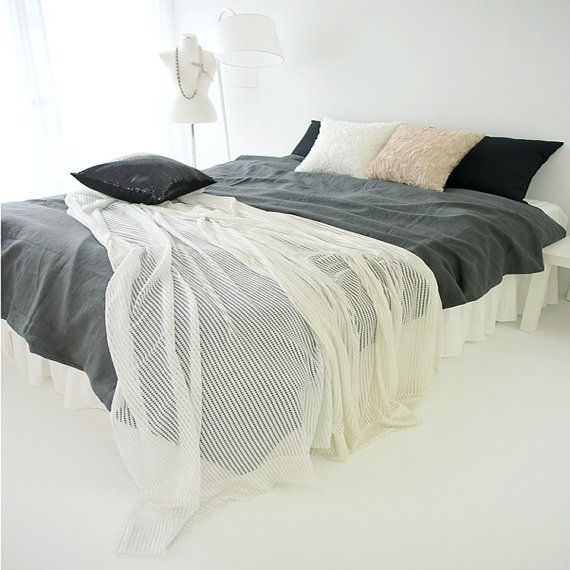 Decorative White Sheer with Gold Glitter Bed Runner Accent Bed Scarf  Perfect for Housewarming Gift