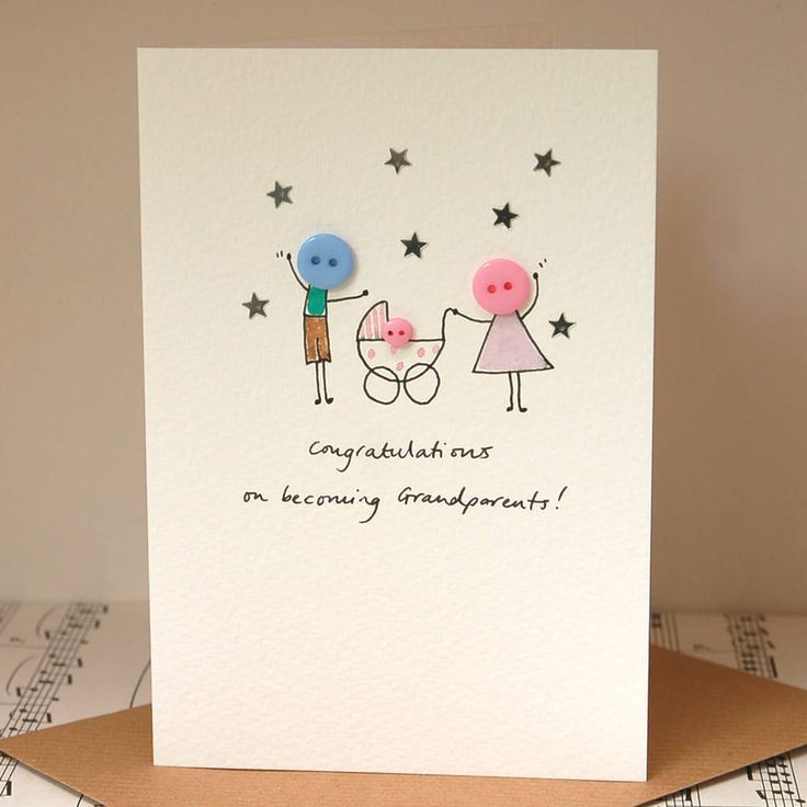 personalised 'button pram' handmade card by hannah shelbourne designs | notonthehighstreet.com