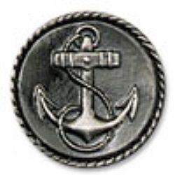 "Buck Snort Lodge Knob, Small Anchor, 1 1/4"" dia. - InterKnobs"