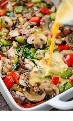 CASSEROLE FOR BREAKFAST LOADING VEGETABLES   – Breakfast