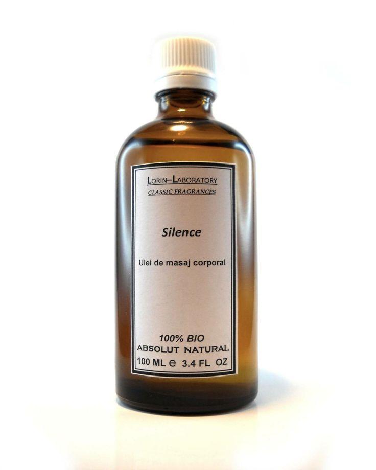 Produse cosmetice personalizate mai multe detalii pe www.lorinlab.com ulei corporal unisex Ulei Silence