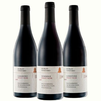 Hurley Vineyard Pinot Noir - from the Mornington Peninsula - Garamond, Hommage & Lodestone - Garamond is our personal favourite
