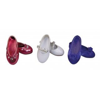 Shimmery Shoes: What a great value for some very pretty shoes!  Three pairs of dressy shoes that any Maplelea Girl would love to wear.  Read about how shoes are made in the journal pages included with this set.
