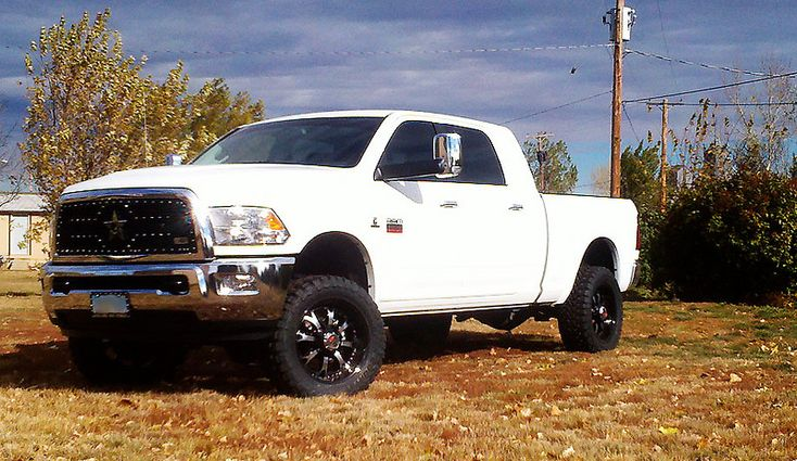 White Truck With Black Rims Any Pics Would Be Nice Dodge Diesel