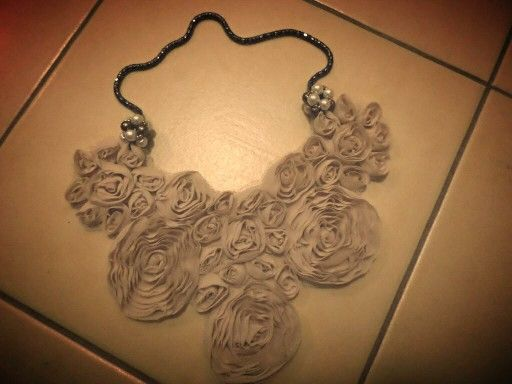 Handmade Flower necklace