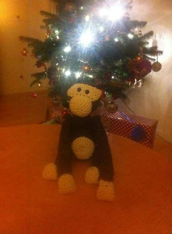 Hæklet kb abe (crochet kb monkey)