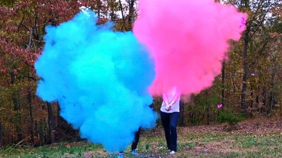 12 Smoke Powder Cannon Gender Reveals No Clean Up Unlike Confetti Cannons Sale To Celebrate Being The Gender Reveal Smoke Baby Gender Reveal Reveal Ideas