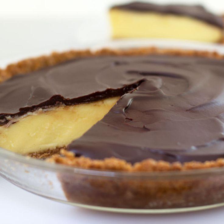 Boston Cream Pie reinvented as pie.