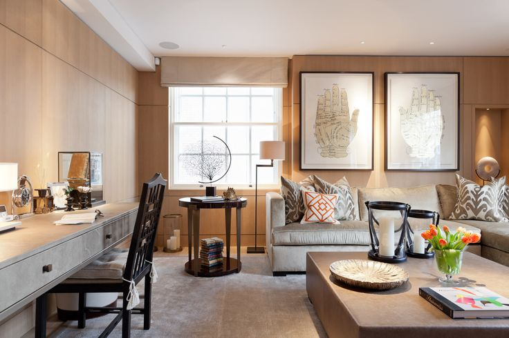Desk chair designed by Michele Bonan produced by Chelini and used in their stylish Knightsbridge project by Taylor Howes