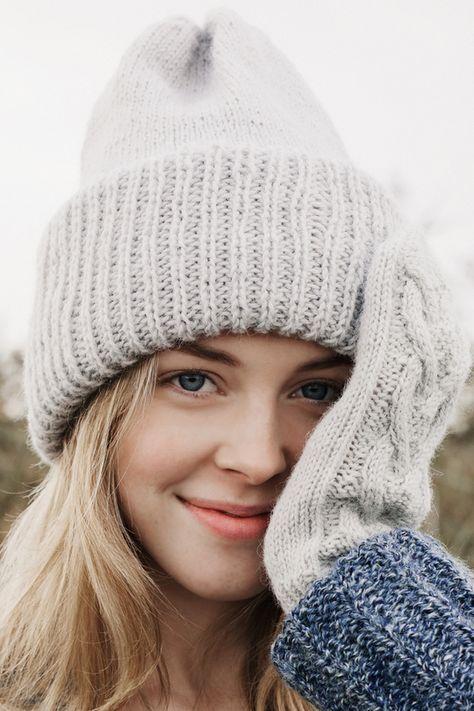 Neulepipo paksu neulottu pipo myssy novita alpaca wool | crochet ...
