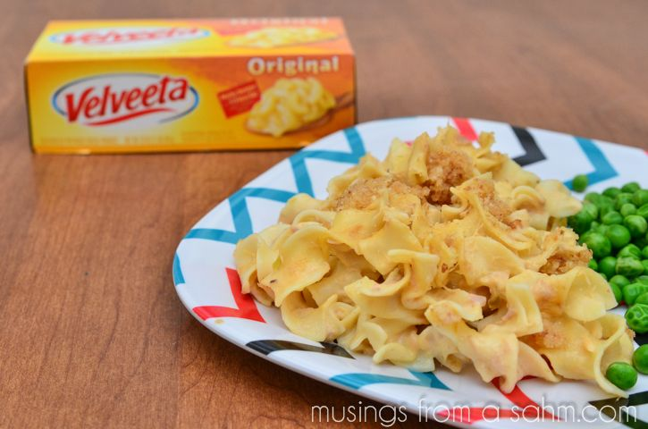 Cheesy Tuna Noodle Casserole Recipe with Velveeta Cheese - Musings From a Stay At Home Mom