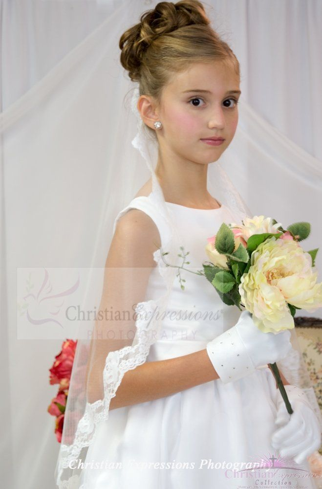 First Communion long lace Mantilla