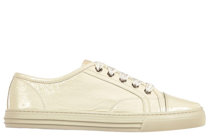 GUCCI WOMEN'S SHOES LEATHER TRAINERS SNEAKERS MYSTIC WHITE. #gucci #shoes #
