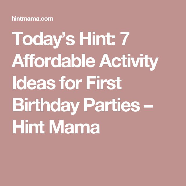 Today S Hint 7 Affordable Activity Ideas For First: 1000+ Ideas About First Birthday Activities On Pinterest