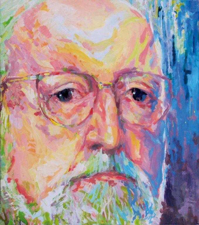 Krzysztof Penderecki painting