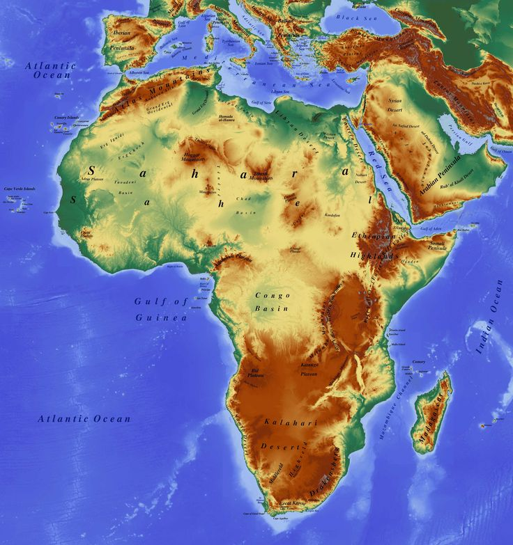 Best Maps Of Africa Images On Pinterest Africa Maps And - Jamaica shaded relief map 1968