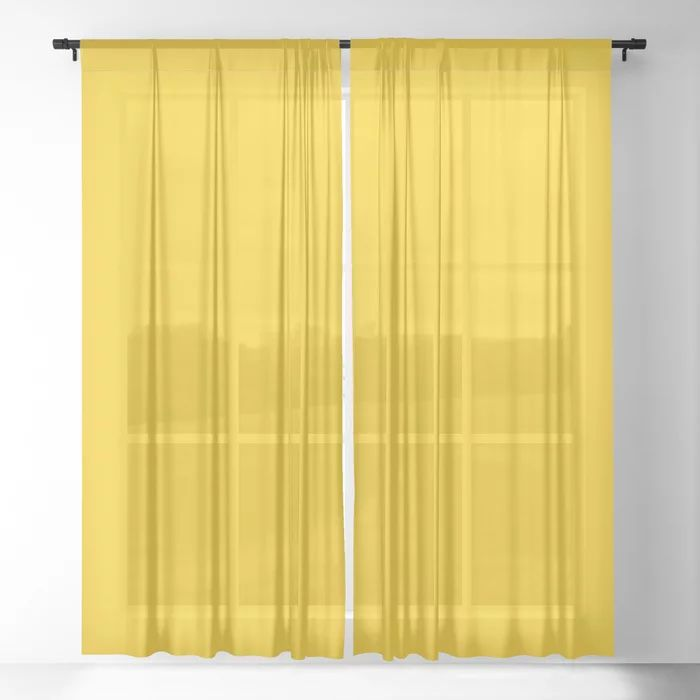 mustard yellow Sheer Curtain by bainai | Society6 in 2020 ...