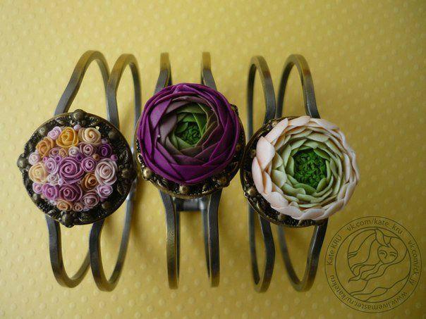 polymerclayfimo: изделия - цветочные комплекты и сова