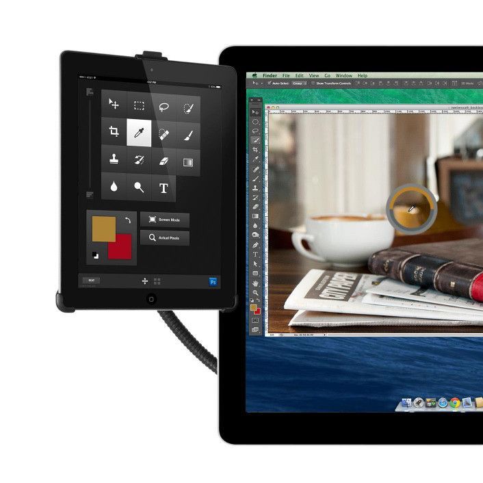Twelve South HoverBar 3 for iPad. Clamps onto any edge to give you hands free access to your iPad. Follow recipes or instructions without having to pick up your iPad.