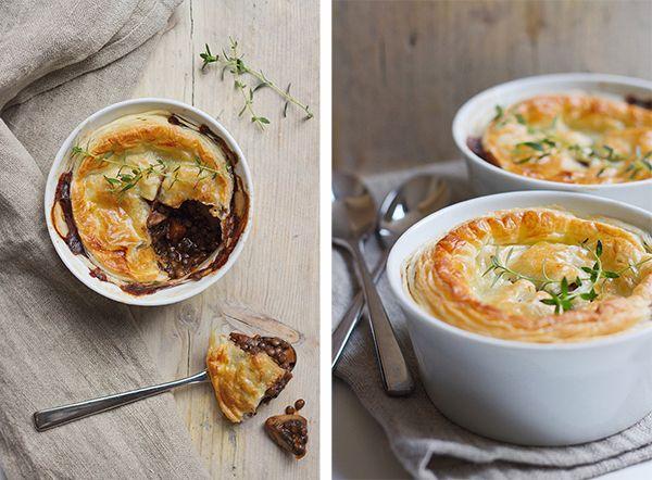 Mushroom, Thyme and Lentil Pies