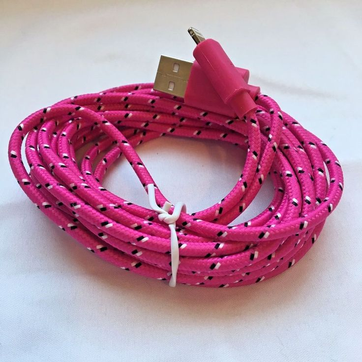 2 Pack iPhone 5 6 7 Charging Cable 10 Ft Nylon Braided Dark Pink #UnbrandedGeneric