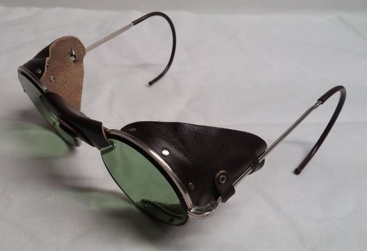 Vintage Ao Motorcycle Aviator Sunglasses Goggles Steampunk