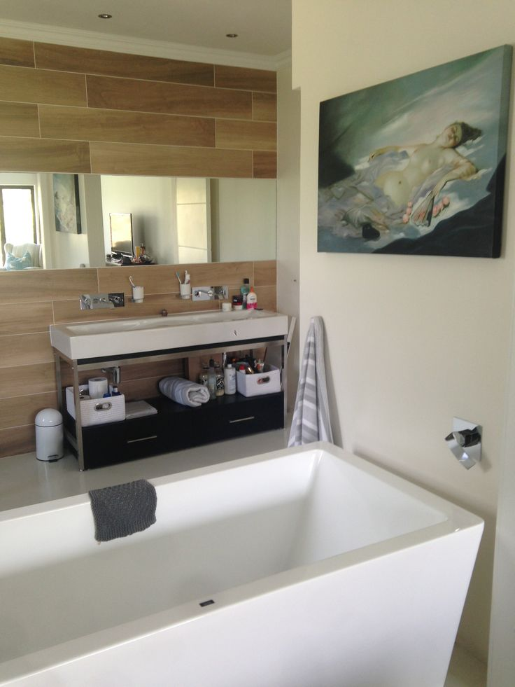 I love my new open plan bathroom!!
