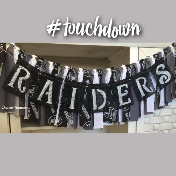 RAIDERS burlap banner Sports banner Sports photo by QueensBanners