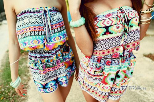 rompers: Outfits, Dreams Closet, Clothing, Colors, Aztec Prints, Cute Rompers, Prints Rompers, Tribal Prints, Tribal Patterns