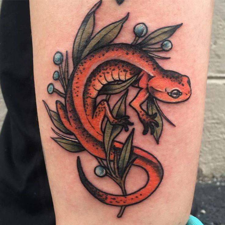 My salamander tattoo by Tony Putt