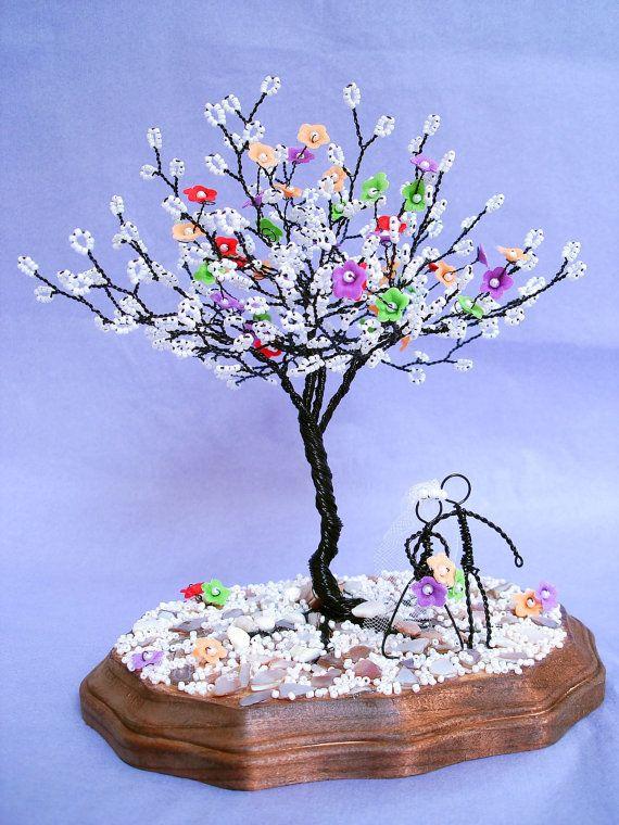 Blossom Wire Sculpture Tree Wedding Centerpiece by wireforest