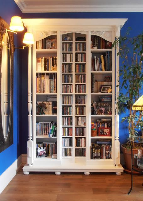 IKEA Hackers: Fake old library used 2 Billy  2 Benno  2 Lack shelves  furniture feet  cornices, mouldings ...