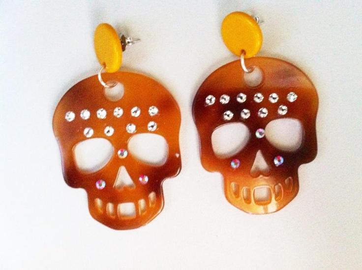 skull mania:orecchini teschio con strass