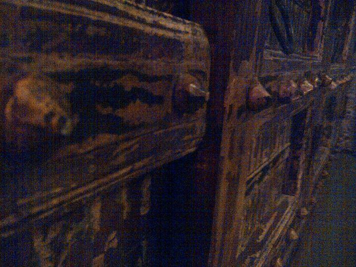 Andrea Nova -Knoppen van een eeuwen oude Indiase deur, verwerkt in ons dressoir.