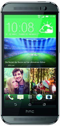 HTC One (M8) Smartphone (12,7 cm (5 Zoll) LCD-Display, Quad-Core, 2,3GHz, 2GB RAM, 5 Megapixel Frontkamera, FM-Radio, Android 4.4.2) metallg...