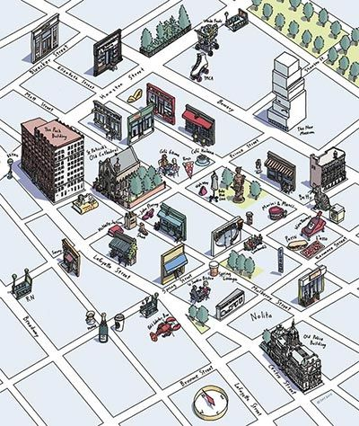 Hand-drawn maps: readers' favourites – in pictures Susan Hunt Yule's Nolita neighbourhood, NYC