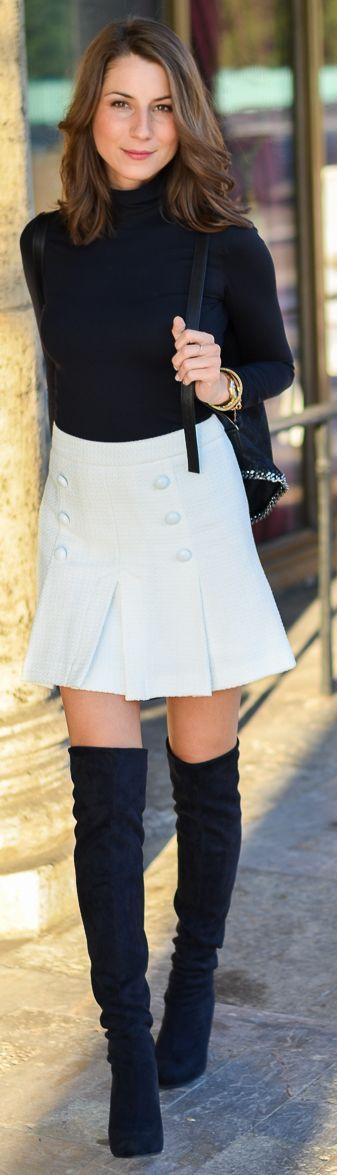 Véjà Du White Button Skirt fall autumn women fashion outfit clothing style apparel @roressclothes closet ideas