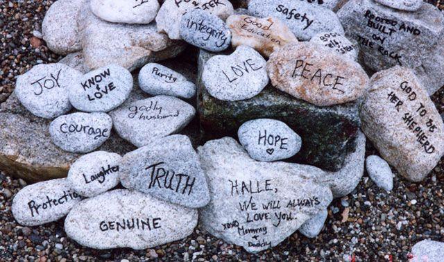 Rituels cérémonie laïque: les pierres