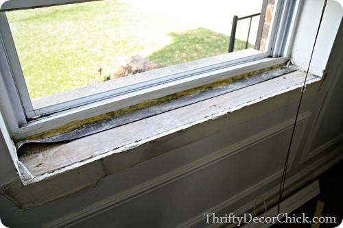 Diy Craftsman Window Trim Replacing Stool And Adding