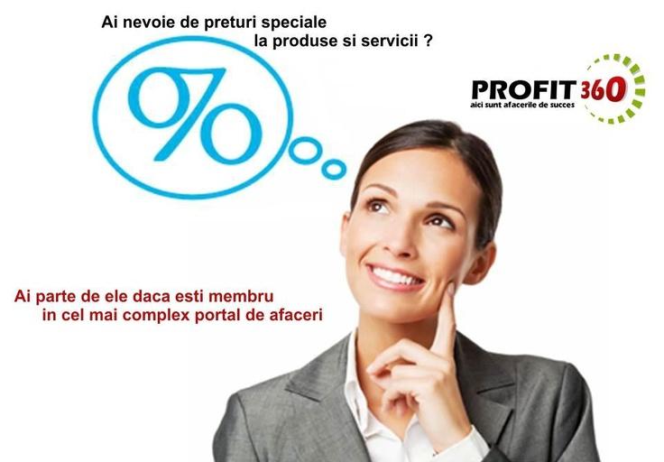 Devino membru Profit360 si vei avea parte de cele mai bune oferte de afaceri si de preturi speciale la produse si servicii.