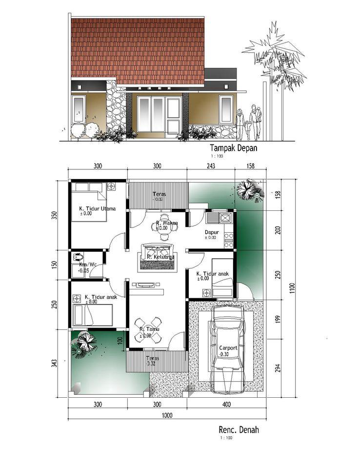 Denah Rumah Type 45 Minimalis 2014