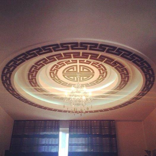 Mongolian ger inspired ceiling.  #mongol #ger #toono  #ceiling