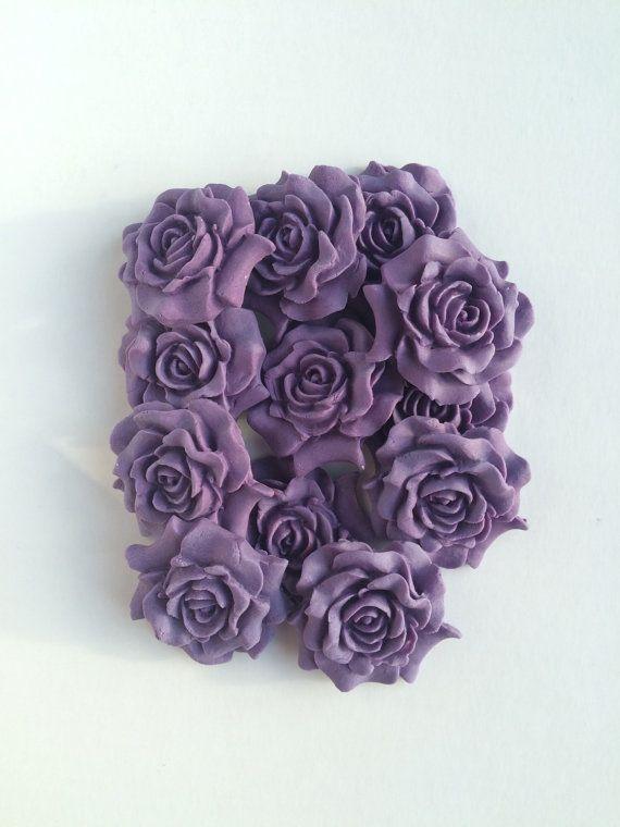 Edible Purple Roses Sugar Roses Cupcake by TheVillageCakeCo
