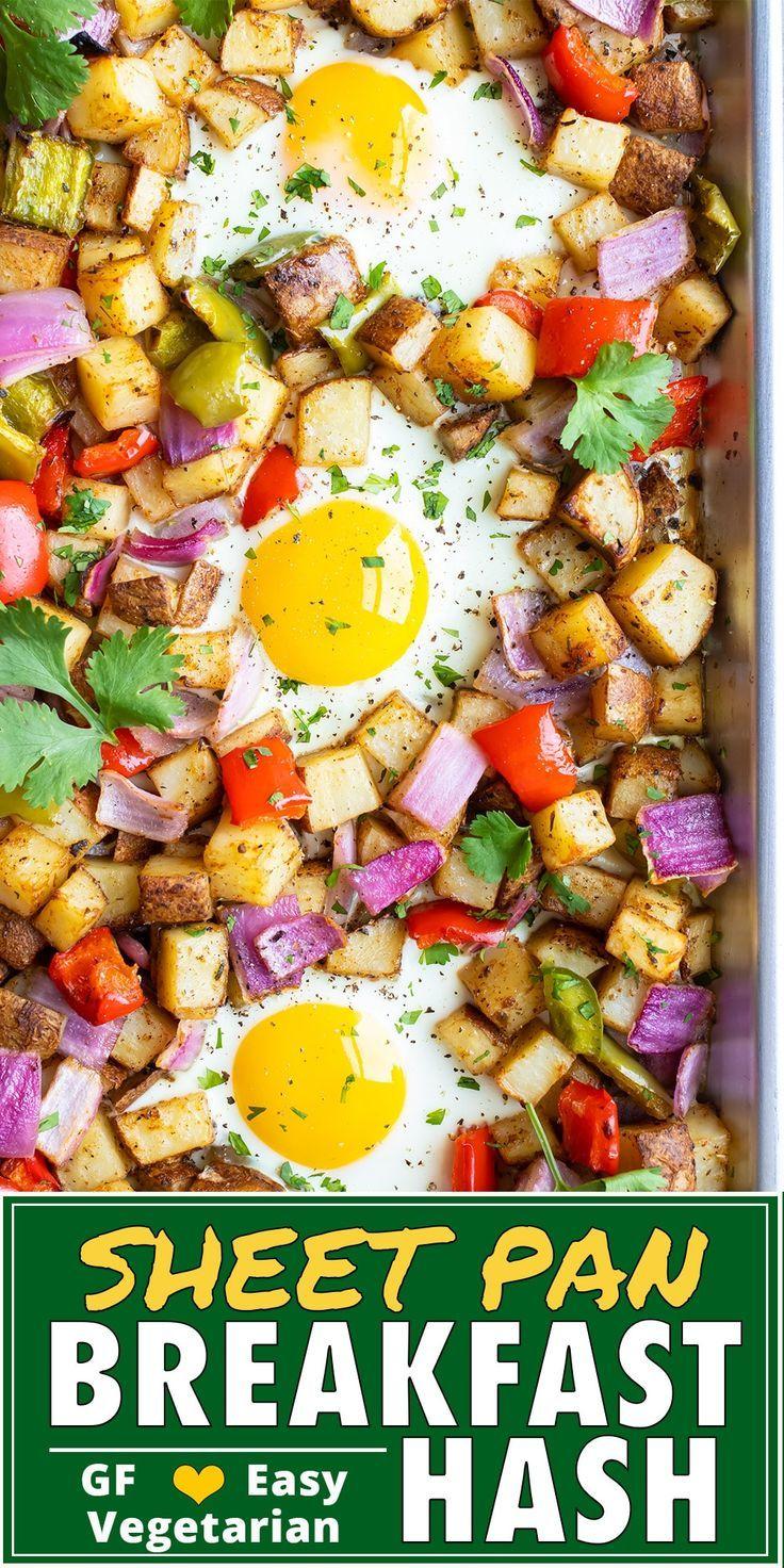 Hoja Pan Desayuno Patata Hash   – Healthy Spring Recipes