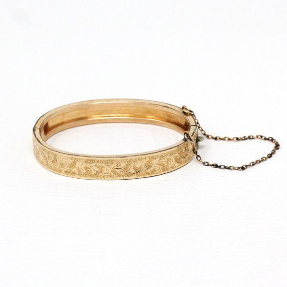 Beautiful Antique Victorian Era Gold Filled Patented Baby Bangle This Ornate Bracelet Features Elegant Design Antique Bracelets Vintage Bracelets Baby Bangles
